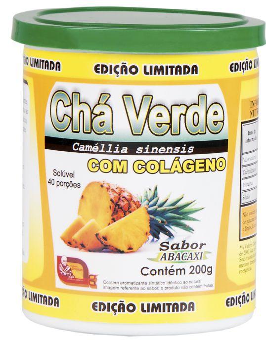 CHÁ VERDE COM COLÁGENO SABOR ABACAXI 200 G - MOSTEIRO DÉVAKA