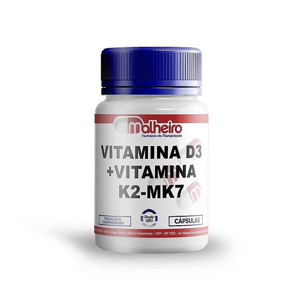 VITAMINA D3 5.000 UI + VITAMINA K2 MK7 100MCG CÁPSULAS