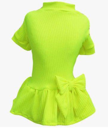 Vestido canelado Neon Verde
