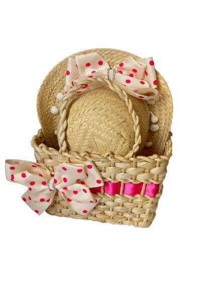 Conjunto de bolsinha e chapéu