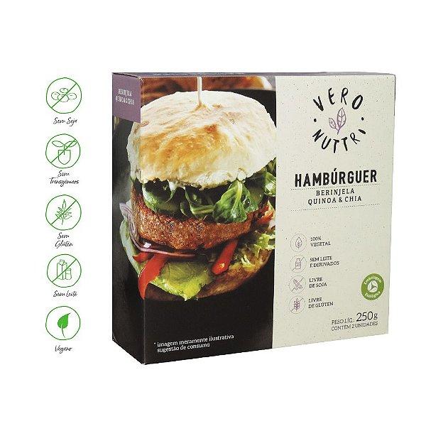 Hambúrguer Vegetal Vero Nuttri Berinjela, Quinoa e Chia 250g (Un)