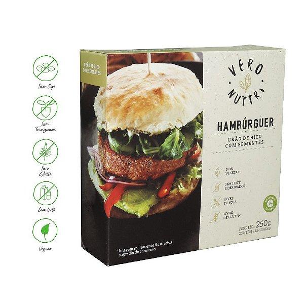 Hambúrguer Vegetal Vero Nuttri  Grão de Bico com Sementes 250g (Un)