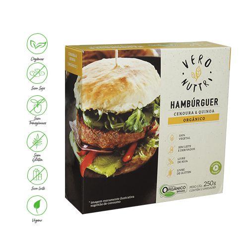 Hambúrguer Vegetal Vero Nuttri Cenoura e Quinoa Orgânico 250g (Un)