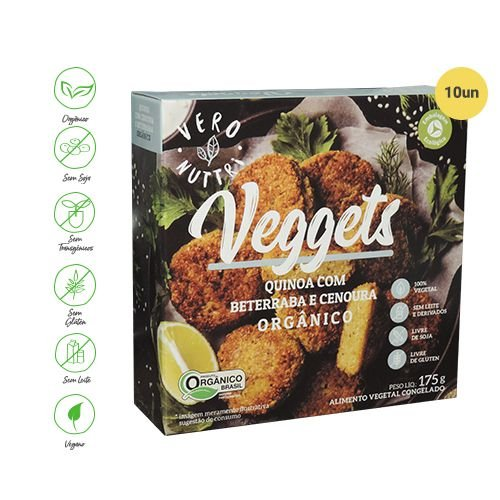 Veggets Vero Nuttri Quinoa com Beterraba & Cenoura Orgânico 175g (Cx c/ 10un)