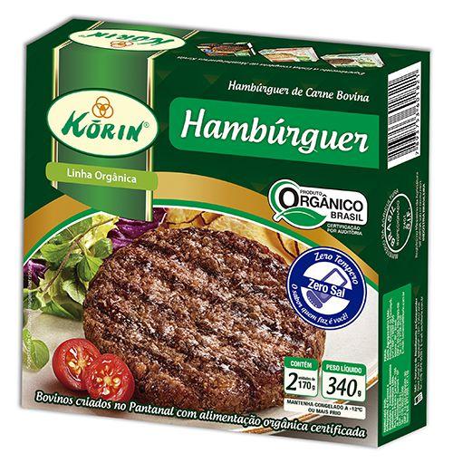 Hambúrguer bovino orgânico 340g Korin