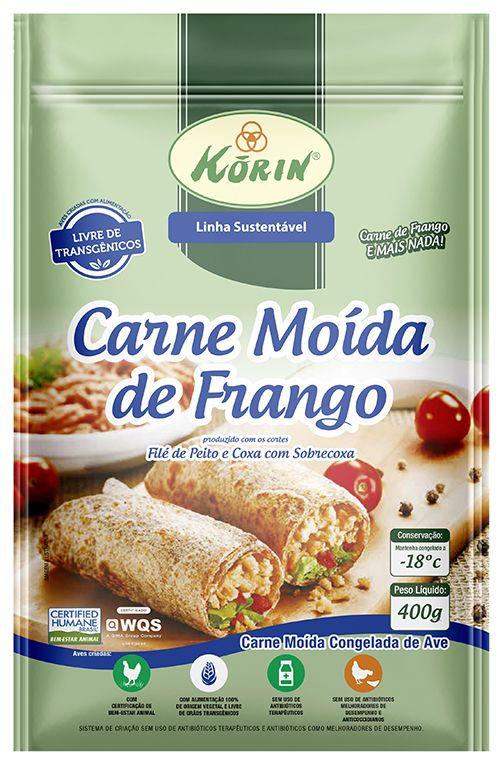 Carne moída de frango 400g Korin
