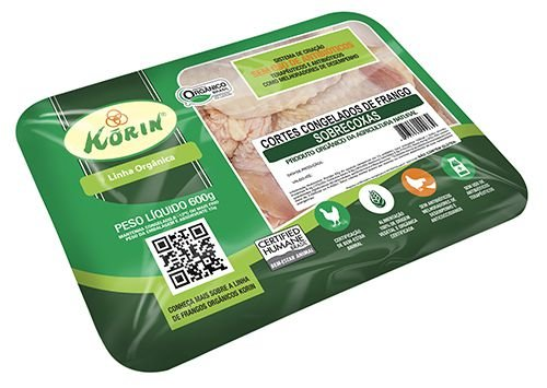 Sobrecoxa congelada orgânica 600g Korin