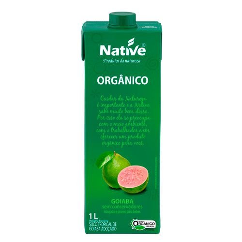 Suco tropical de goiaba orgânico 1L Native