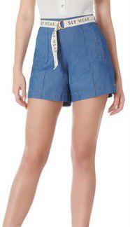 Shorts Jeans elastano com cinto Sly Wear