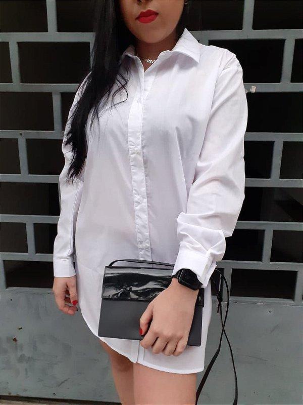 Camisa manga longa viscose