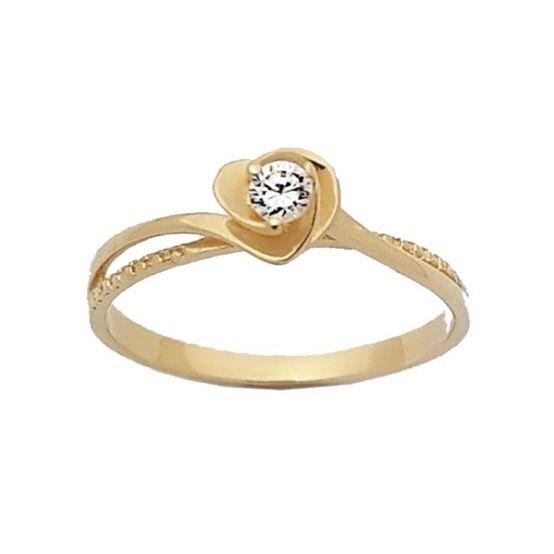 Anel solitário love em Ouro 750 18K com Diamante (Unidade)