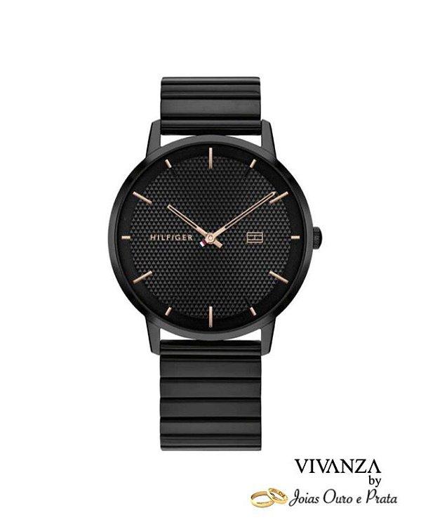 Relógio Tommy Hilfiger Masculino Aço Preto (unidade)