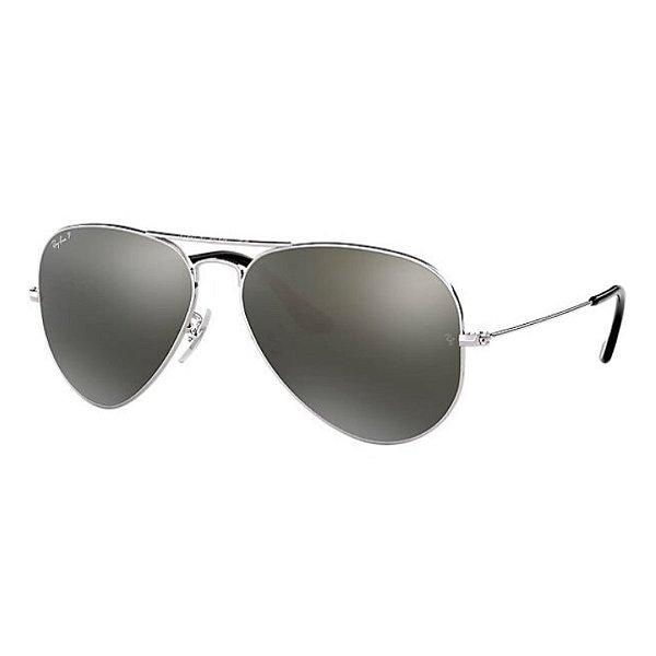 Óculos Ray-Ban Aviator Classic prata espelhado RB3027