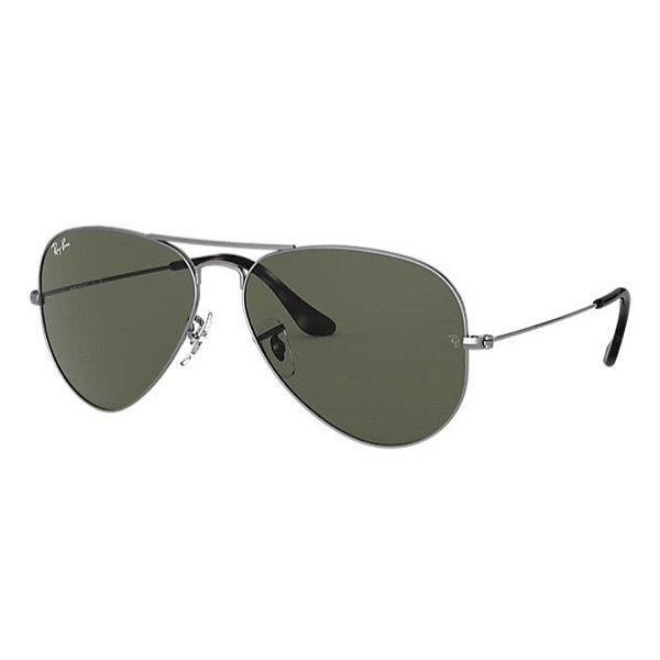 Óculos Ray-Ban Aviator Classic cinza metálico RB3028