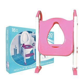 Redutor De Assento Com Escada Rosa Clingo