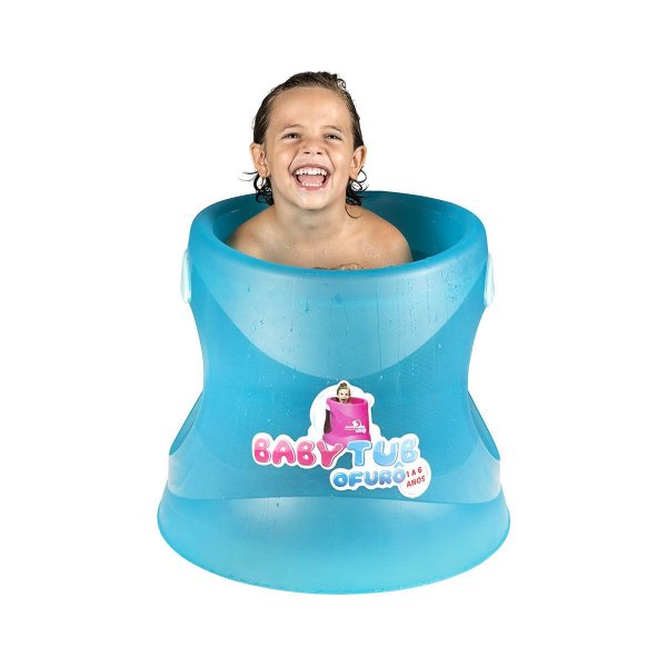 Banheira Infantil Ofurô Azul Translúcido Baby Tub