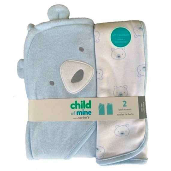 KIT 2 TOALHAS AZUL URSO CHILD OF MINE BY CARTER'S