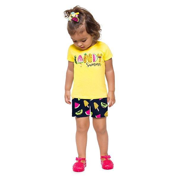Conjunto Amarelo Summer Kyly