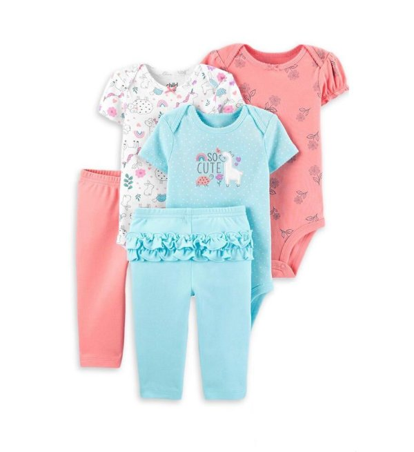KIT MINI ENXOVAL  LHAMA CHILD OF MINE BY CARTER'S