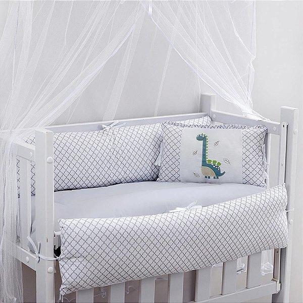 Kit Mini Berço 7pçs Baby Dino Encanto Brubreleu Baby