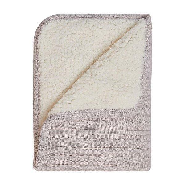 Cobertor Fofinho Tricot 1,10m X 75cm Cinza Mami