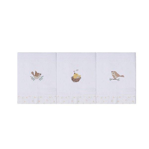 Paninho De Boca 40cm X 37cm Pássaros Mami