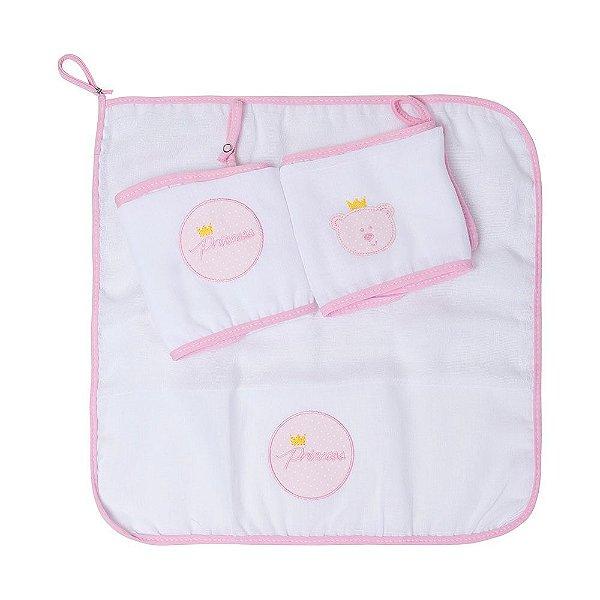 Babete Gifts Toys Com Prendedor De Chupeta 40cm X 40cm Urso Rosa Papi
