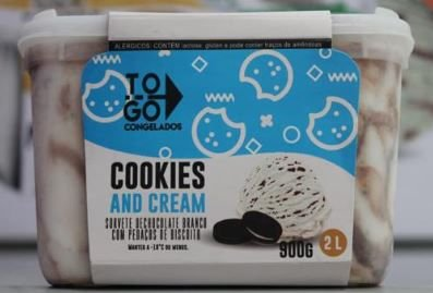 Sorvete Artesanal Cookies and Cream 2 litros