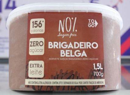 Sorvete Zero Açucar Brigadeiro Belga 1,5 litros