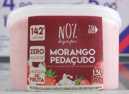 Sorvete Zero Açúcar Morango Pedaçudo 1,5 litros