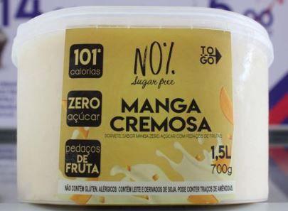 Sorvete Zero Açúcar Manga Cremosa 1,5 litros