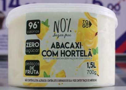 Sorvete Zero Açúcar Abacaxi com Hortelã 1,5 litros