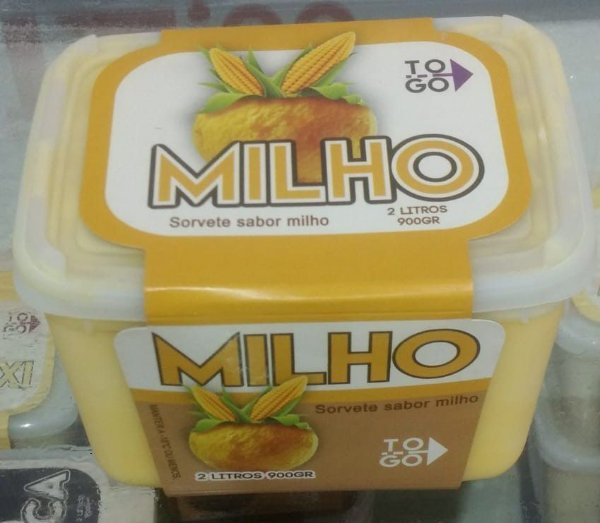 Sorvete Milho 2 litros