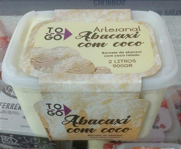 Sorvete Abacaxi com Coco 2 litros