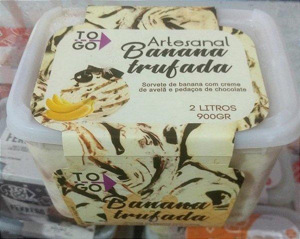 Sorvete Banana Trufada 2 litros