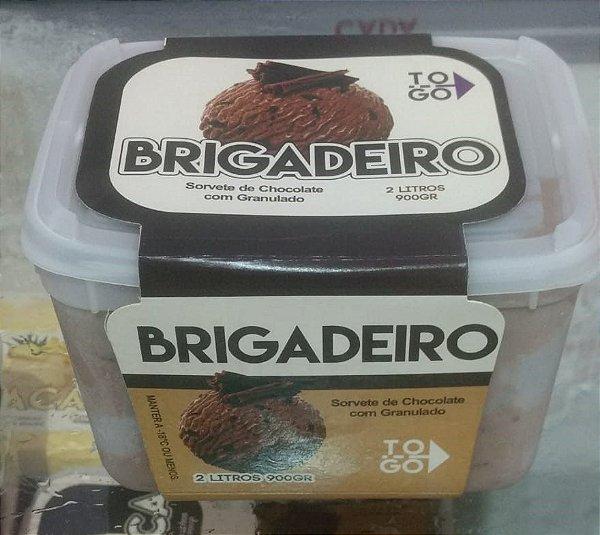 Sorvete Brigadeiro 2 litros