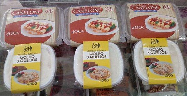 Kit Canelone ao Molho de 3 Queijos