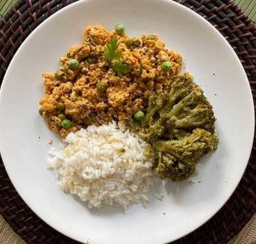 Peito de Peru com arroz e brócolis 600g