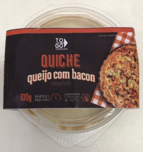 Quiche de Queijo com Bacon 100g