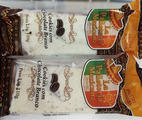 Paleta Premium Cookies com Chocolate Branco