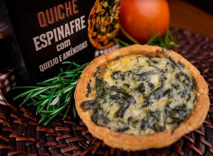 Quiche de Espinafre com queijo e amendoas 100g