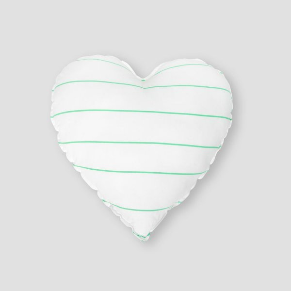 Almofada coração listras VD