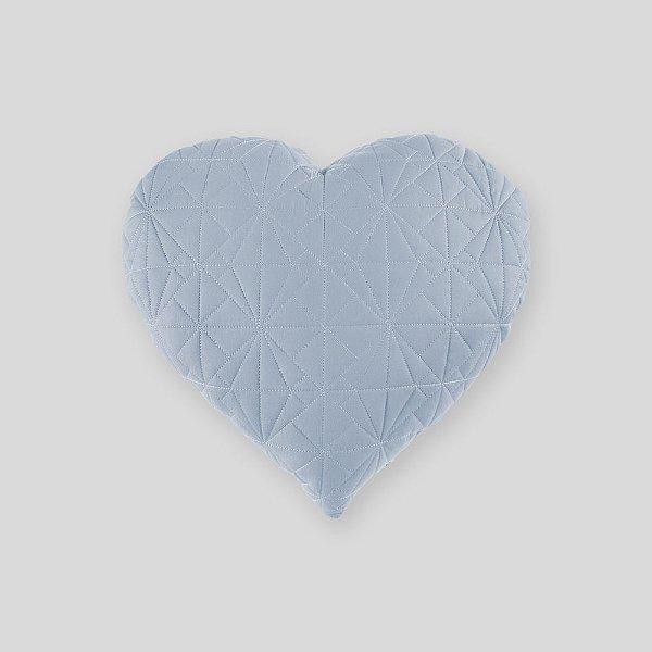 Almofada Coração matelassê azul