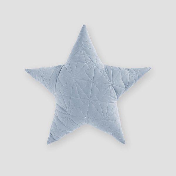 Almofada Estrela matelassê Azul