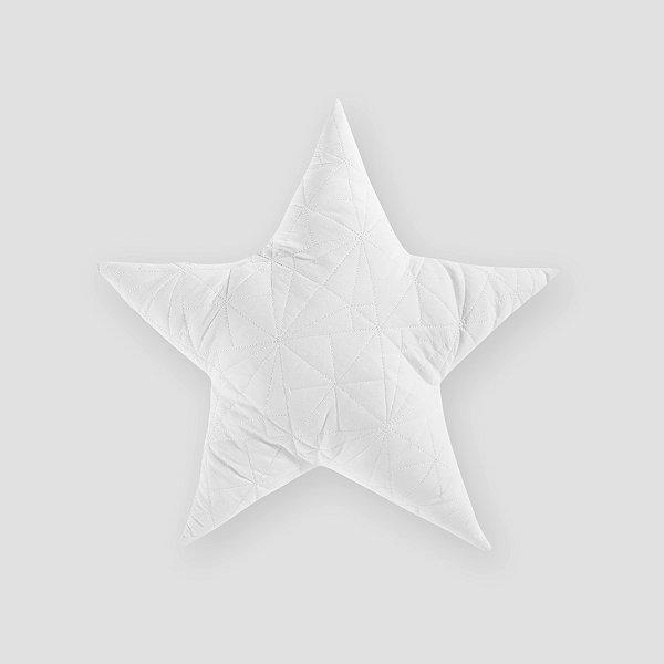 Almofada Estrela matelassê branca