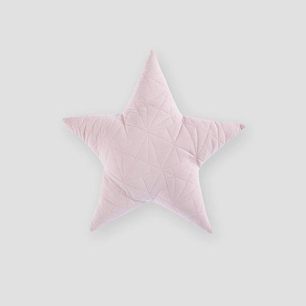 Almofada Estrela matelassê Rosa
