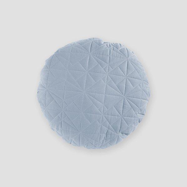 Almofada Redonda matelassê azul