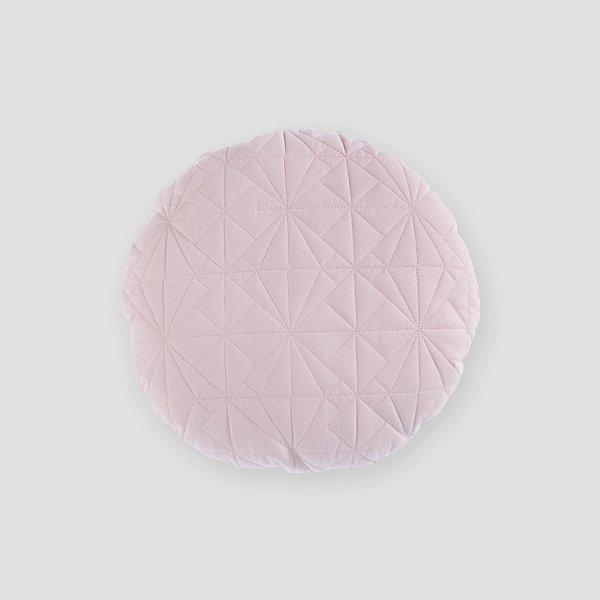 Almofada Redonda matelassê rosa