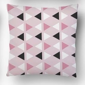 Almofada Triângulo rosa