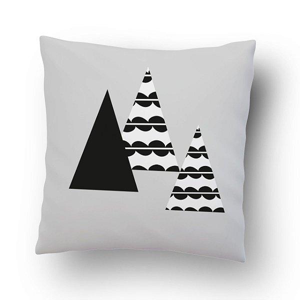 Almofada Triângulos preto